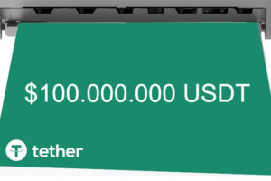 Tether печатает 100.000.000 USDT